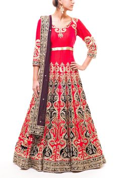 Wellgroomed Designs- Gorgeous Red Bridal Anarkali