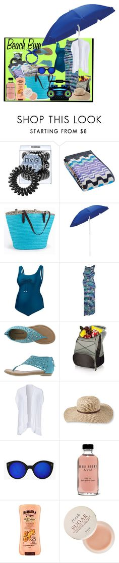 """Beach Maternity Contest -"" by slynne-messer ❤ liked on Polyvore featuring Invisibobble, Missoni Home, Picnic Time, Amoralia, George, Phax, L.L.Bean, Bobbi Brown Cosmetics, Hawaiian Tropic and Fresh"