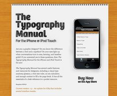 Best iPhone apps: Typography Manual
