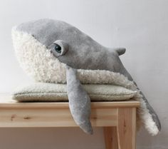 Whale Stuffed Animal handmade in Paris #plush #sealife #humpback