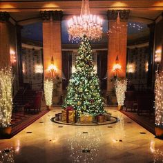 Our chandelier tree \