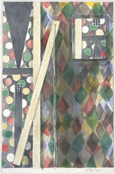 Jasper Johns Untitled 2003 watercolor and graphite on paper, x inches Courtesy Matthew Marks Gallery Abstract Expressionism, Abstract Art, Neo Dada, Robert Rauschenberg, Jasper Johns, Museum Exhibition, Painting Patterns, Cool Artwork, American Art