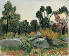 Matisse - Rocks in the Valley of the Loup, 1925, oil on canvas, 38.3x47.0cm