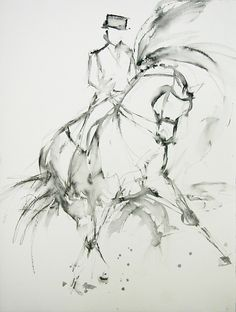 Starting to really appreciate the beauty of Dressage Horse Drawings, Animal Drawings, Art Drawings, Arte Equina, Animal Paintings, Horse Paintings, Pastel Paintings, Watercolor Horse, Watercolor Sketch