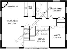 Bi-Level Home 2013684  by Edesignsplans.ca