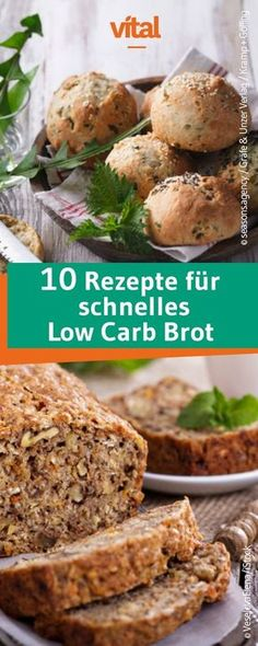 Low Carb Brot und Brötchen Our bread and bread recipes are fresh, delicious, crispy and easy to bake. Low Carb egg whitesLow carb bread with crispyLow carb recipe for licking Low Carb Desserts, Low Carb Recipes, Bread Recipes, Low Carb Bread, Low Carb Keto, Law Carb, Dieta Paleo, Eat Smart, Paleo Breakfast