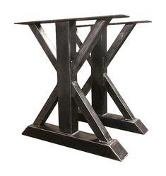 Metal Trestle Table Legs Custom Made Box Steel by SteelCustoms