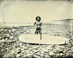 Joni Sternbach, wet plate collodion photographic technique in SurfLand
