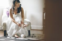 Bride prepares for her wedding at Falkirk Estates in Central Valley, NY. Captured by NYC wedding photographer Ben Lau.