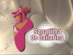 """Centro de mesa """" sapatilha de bailarina """" - YouTube"""