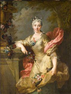 François Delyen - Portrait de femme en Flore - Huile sur toile, 142 x 113 cm, vers 1730-1735 - Musée Jacquemart-André (Paris) © C. Recoura / Institut de France
