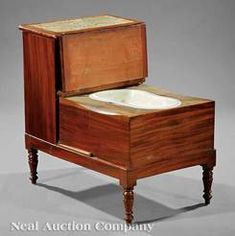 English Regency carved mahogany bed step, mid century, two hinged steps, carpet treads, fitted with porcelain bidet Carpet Treads, Bed Steps, Regency Era, Victorian Houses, Cabins In The Woods, Toilets, Doll Houses, 18th Century, Keep It Cleaner