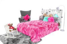 Chlpatá OMBRE deka ako dekoratívna prikrývka ružovej farby Toddler Bed, Furniture, Home Decor, Child Bed, Decoration Home, Room Decor, Home Furnishings, Home Interior Design, Home Decoration