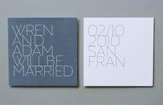 Contemporary Wedding Invitations | Rosebrook Meyer : Stylish, Modern Wedding Invitations