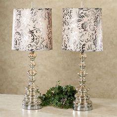 Ryleigh Table Lamp Pair Platinum