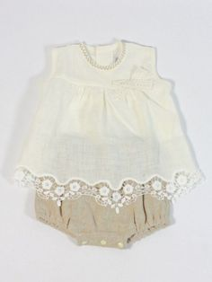 Conjunto ceremonia bebe lino Rochy - Ropa de bebés - Les bébés