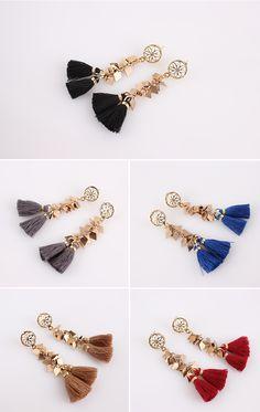 [바보사랑] 태슬의 에스닉함이 좋다 /귀걸이/주얼리/패션주얼리/악세서리/태슬/참/앤틱/Ethnic/Earrings/Fashion/Accessory/Jewelry/Tassels/Antique/Charm
