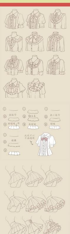 Dress and frills reference