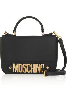 MoschinoTextured-leather shoulder bag