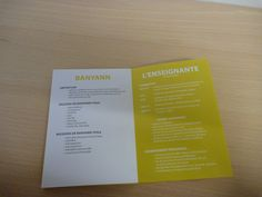dépliant partenariat, brochure, valeur de Banyann, enseignante Céline Heimo #yoga #meditation #banyann #bienetre Celine, Yoga, Definitions, Personalized Items