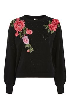 Stitchy Patch Embroidered Jumper