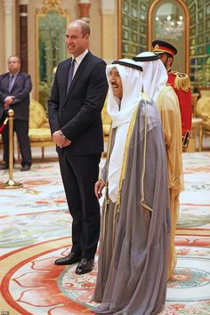 William looked delighted to be meeting with the Emir of Kuwait, His Highness Sheikh Sabah Al-Ahmad Al-Jaber Al-Sabah, at the Bayan Palace Prince William And Catherine, House Of Windsor, Royal Court, Duke Of Cambridge, Prince Of Wales, Princess Charlotte, Queen Elizabeth Ii, British Royals, Mail Online
