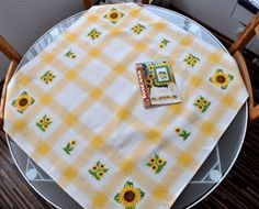 a table-cloth that is perfect for my table on the patio Perfect For Me, Crossstitch, A Table, Patio, In This Moment, Nice Asses, Cross Stitch, Punto De Cruz, Seed Stitch