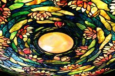 Tiffany Lamp / Colorful Stained Glass Lampshade of by PhotoClique, $28.00