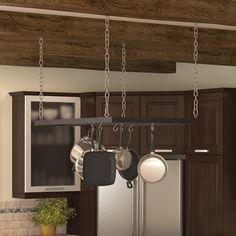 Porte-casserole suspendu par des chaînes