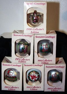 6 Vintage Campbell Soup Kids Collector Christmas Ornaments '83 '84 '85' 89 '91  #CampbellSoup