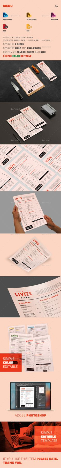 Minimal Menu Template Clean foods, Design and Originals - cafe menu templates free download