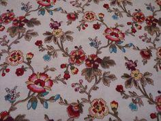Stoff Blumen - Markus US Stoff beige Blumen M for Mystery - ein Designerstück von Bibo-Laedchen bei DaWanda