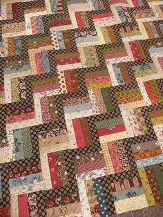 Saut de chat - Tempus fugit..simple quilts with CW fabrics always a winner!