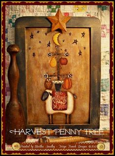 Harvest Penny - Painted by Martha Smalley, Painting With Friends E Pattern