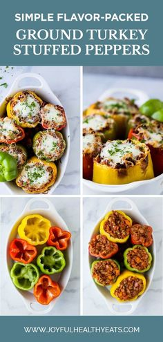 Gluten Free Turkey Bolognese Stuffed Peppers a simple dinner recipe filled with rich flavor your family will love. These Stuffed Peppers make the perfect comforting weeknight meal! Ground Turkey Stuffed Peppers, Easy Stuffed Peppers, Healthy Eating Recipes, Healthy Eats, Keto Recipes, New Chicken Recipes, Turkey Recipes, Fall Dinner Recipes, Delicious Dinner Recipes