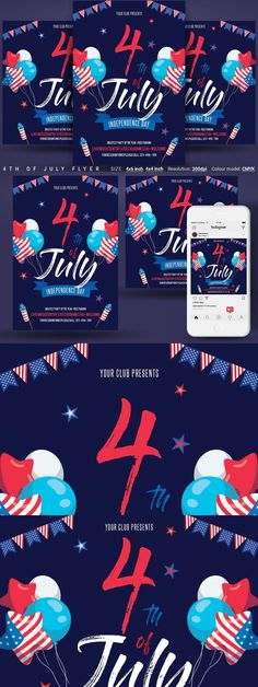 Flyer Size, Club Design, Independence Day, 4th Of July, Bloom, Photoshop, Instagram, Diwali, 4th Of July Nails