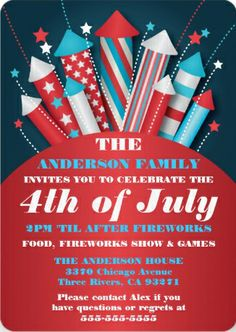 Fun fireworks #4th_of_July_party_invitations.