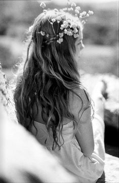 Flowers on your hair. Always.