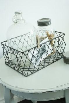 wire basket great for jar storage or display