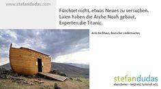 Lebensthemen-Spruch 03 Arno, Die Titanic, Mental Training, Humor, Motivation, Life, Humour, Moon Moon, Comedy