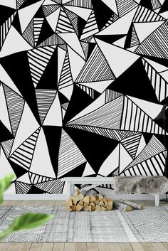 Illustration about Black and white seamless pattern. Illustration of geometric, little, background - 30195106 Wall Drawing, Mural Wall Art, Seamless Textures, Wall Patterns, Geometric Art, Paint Designs, Wall Design, Illustration, Mosaic