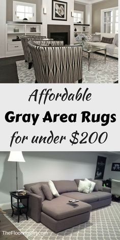 affordable gray area rugs for under $200