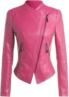 Shop a great selection of Lentta Women's Casual Slim Fit Slanted Zip Up Solid Faux Pu Leather Moto Jacket. Find new offer and Similar products for Lentta Women's Casual Slim Fit Slanted Zip Up Solid Faux Pu Leather Moto Jacket. Blazers For Women, Coats For Women, Jackets For Women, Clothes For Women, Shop Jackets, Women's Jackets, Casual Jackets, Winter Jackets, Military Style Jackets