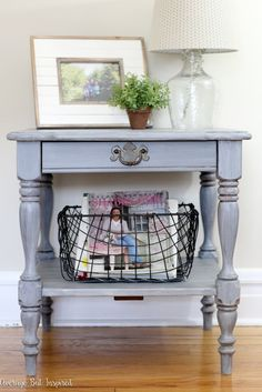 Learn how to give an old piece of furniture new life by giving it a weathered wood look with paint!