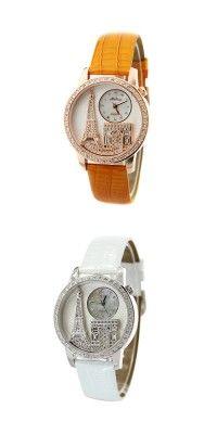 New Leather Strap Eiffel Tower Style Women's Fashion Jewelry Watch