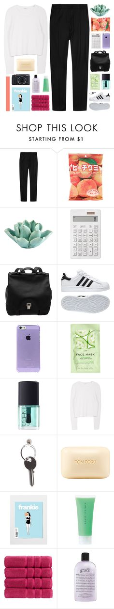 """tonight we raise the dead / COLLAB WITH JEMMA"" by hhuricane ❤ liked on Polyvore featuring J.W. Anderson, HomArt, Muji, Proenza Schouler, adidas, H&M, NARS Cosmetics, Equipment, Maison Margiela and Tom Ford"