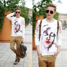 Choies Graffiti Sweatshirt, Freyrs Glasses