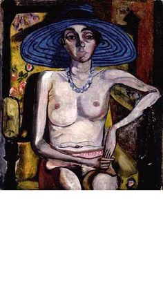 Alice Neel  1930 Rhoda Myers with Blue Hat  Oil on Canvas  27 1/4 x 23 1/4 inches / 69.2 x 59 cm  Private Collection