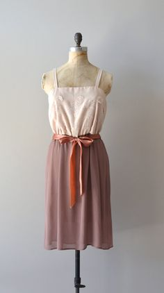 vintage 70s dress / chiffon 1970s dress / Nostalgic Remembrance dress
