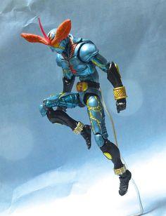 Inazuman custom action figure by @surume0407 Base figure: Kamen Rider Hibiki